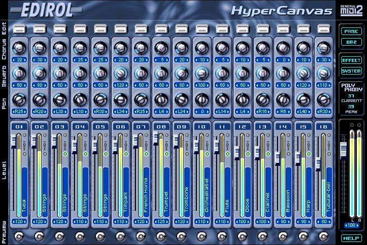 KVR: HyperCanvas by EDIROL - Sound Module VST Plugin and