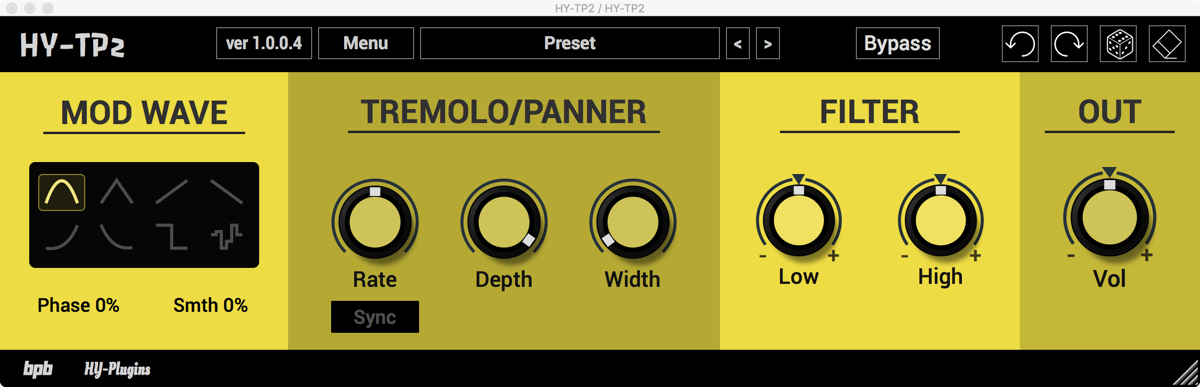 KVR: HY-TP2 by HY-Plugins - Tremolo VST Plugin, Audio Units