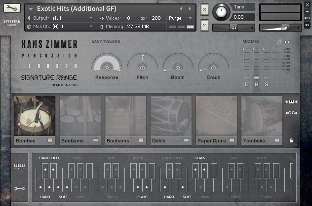 KVR: Hans Zimmer Percussion HZ01 by Spitfire Audio - Percussion VST