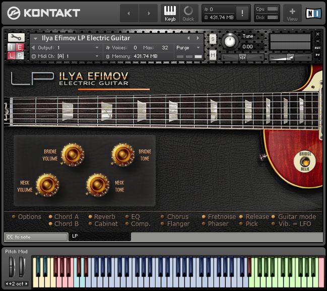 kvr ilya efimov releases lp electric guitar for kontakt. Black Bedroom Furniture Sets. Home Design Ideas