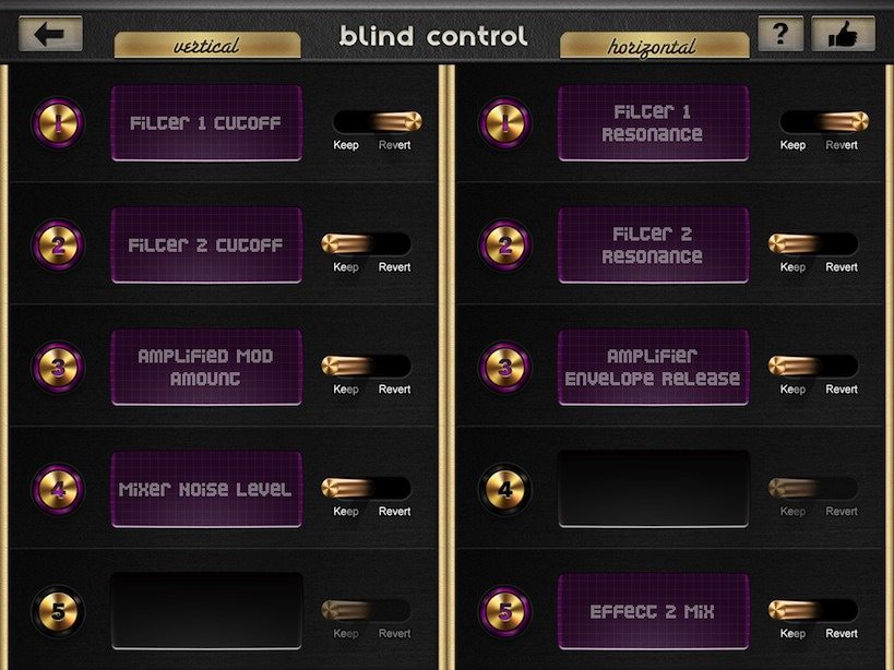 Blind Control
