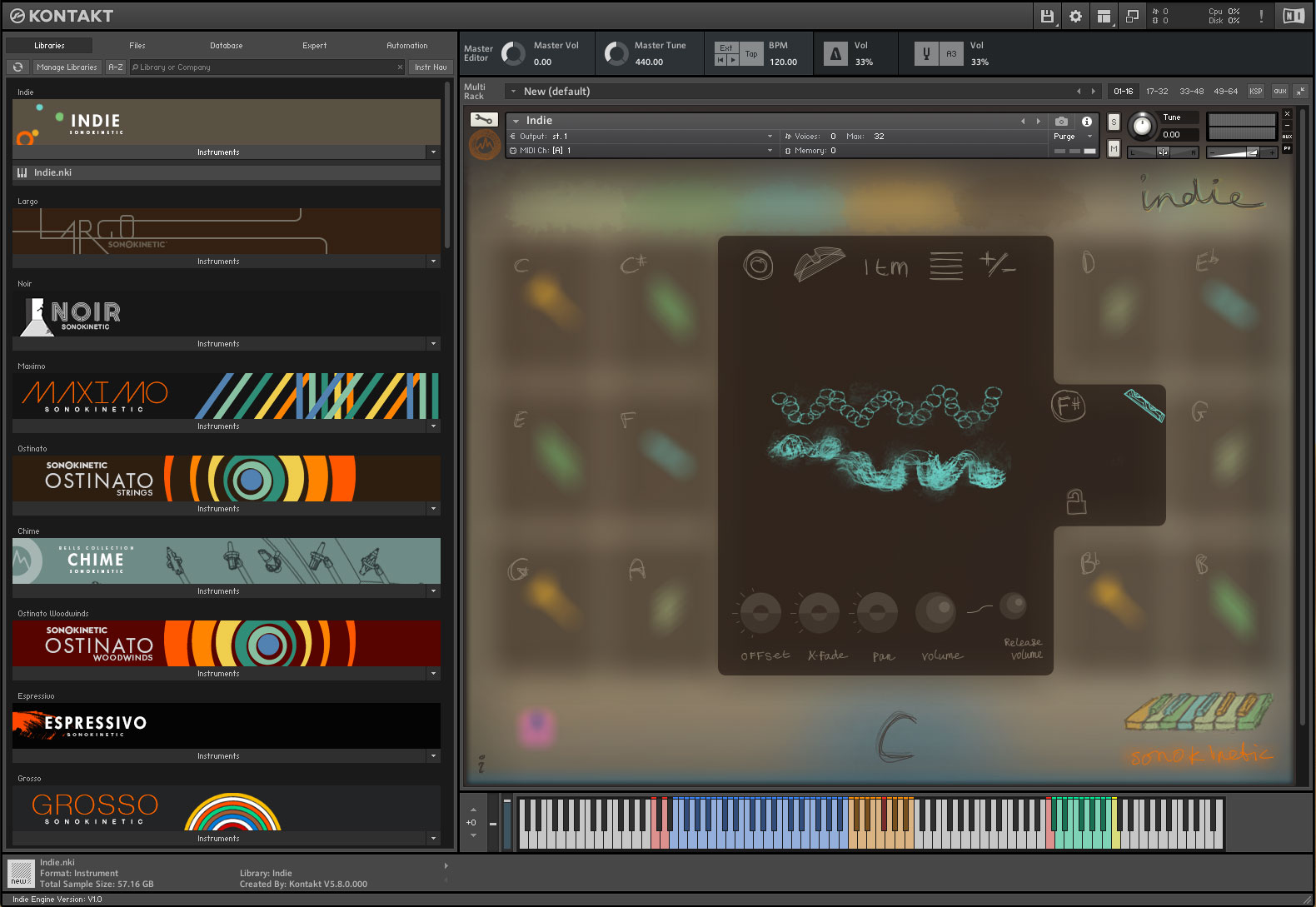 KVR: Indie by Sonokinetic BV - Sample Library VST Plugin, Audio