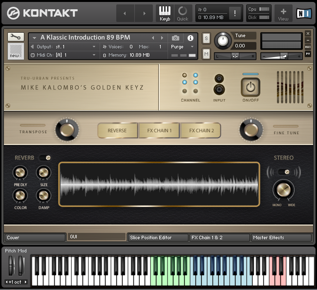 Mike Kalombo's Golden Keyz for Kontakt