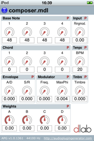 APG Composer for iPhone / iPod Touch