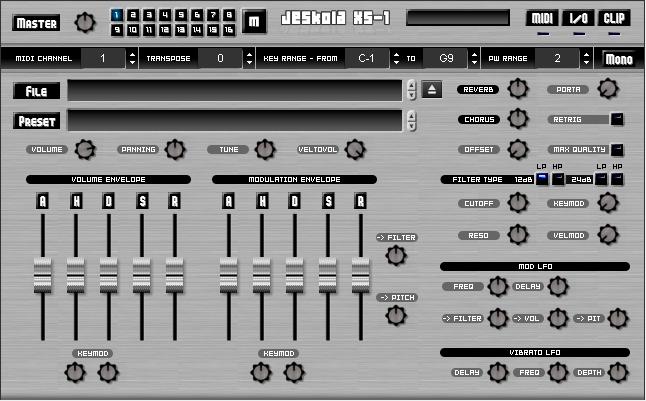KVR: XS-1 by Jeskola - Sampler/Sample Player VST Plugin