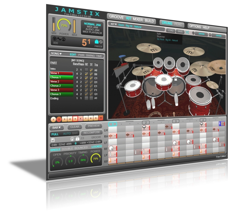 KVR: Jamstix by Rayzoon Technologies LLC - Virtual Drummer