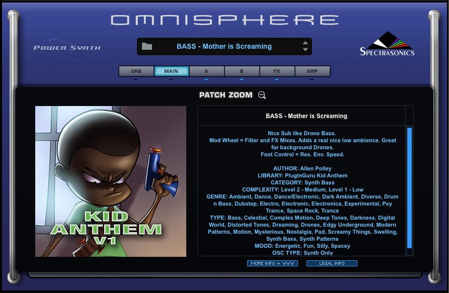 KVR: PlugInGuru releases Kid Anthem - 300 patches for