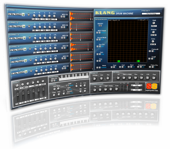 Klang Drum Machine