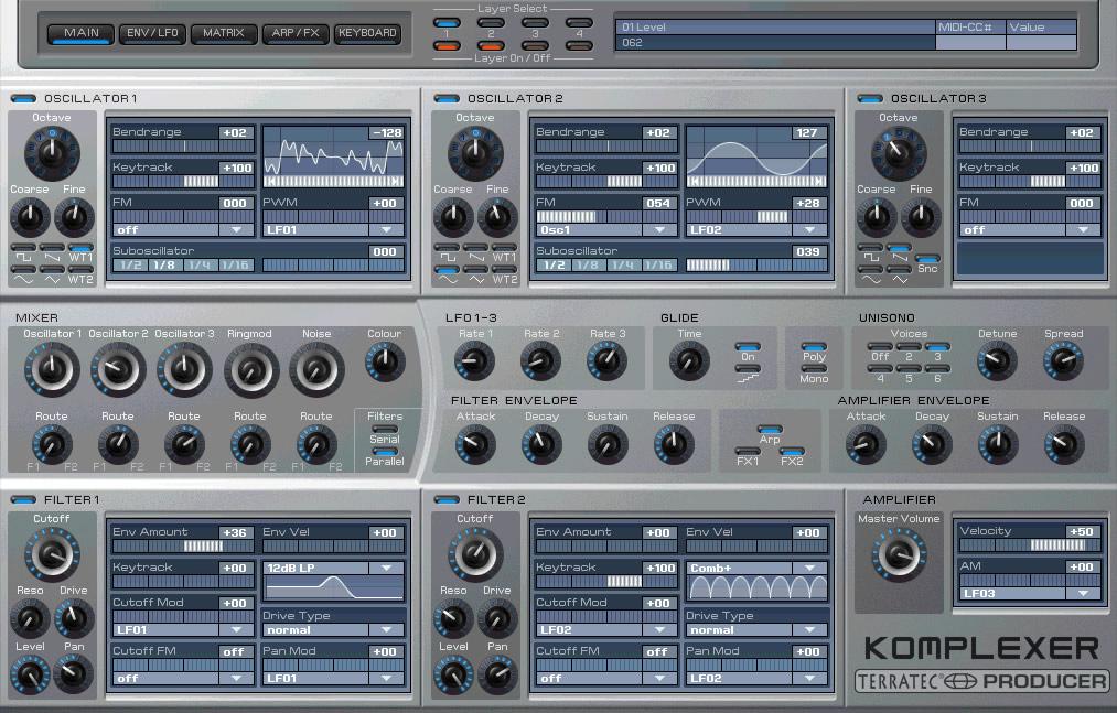 KVR: Komplexer by TerraTec Producer - Synth (Hybrid) VST