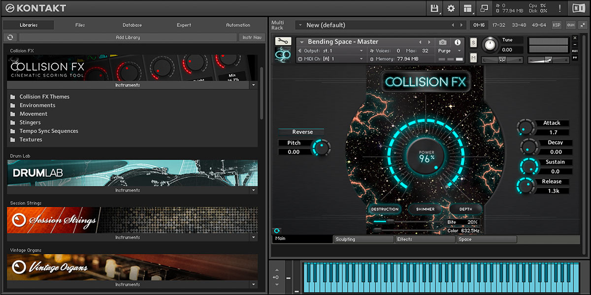Sound Yeti Has Announced The Release Of Collision Fx A New Kontakt Player Ed Virtual Instrument That Delivers Palette To Design Compose