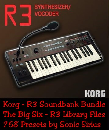 KVR: Korg - R3 Synthesizer - The Big Six - Free Soundbank Bundle by