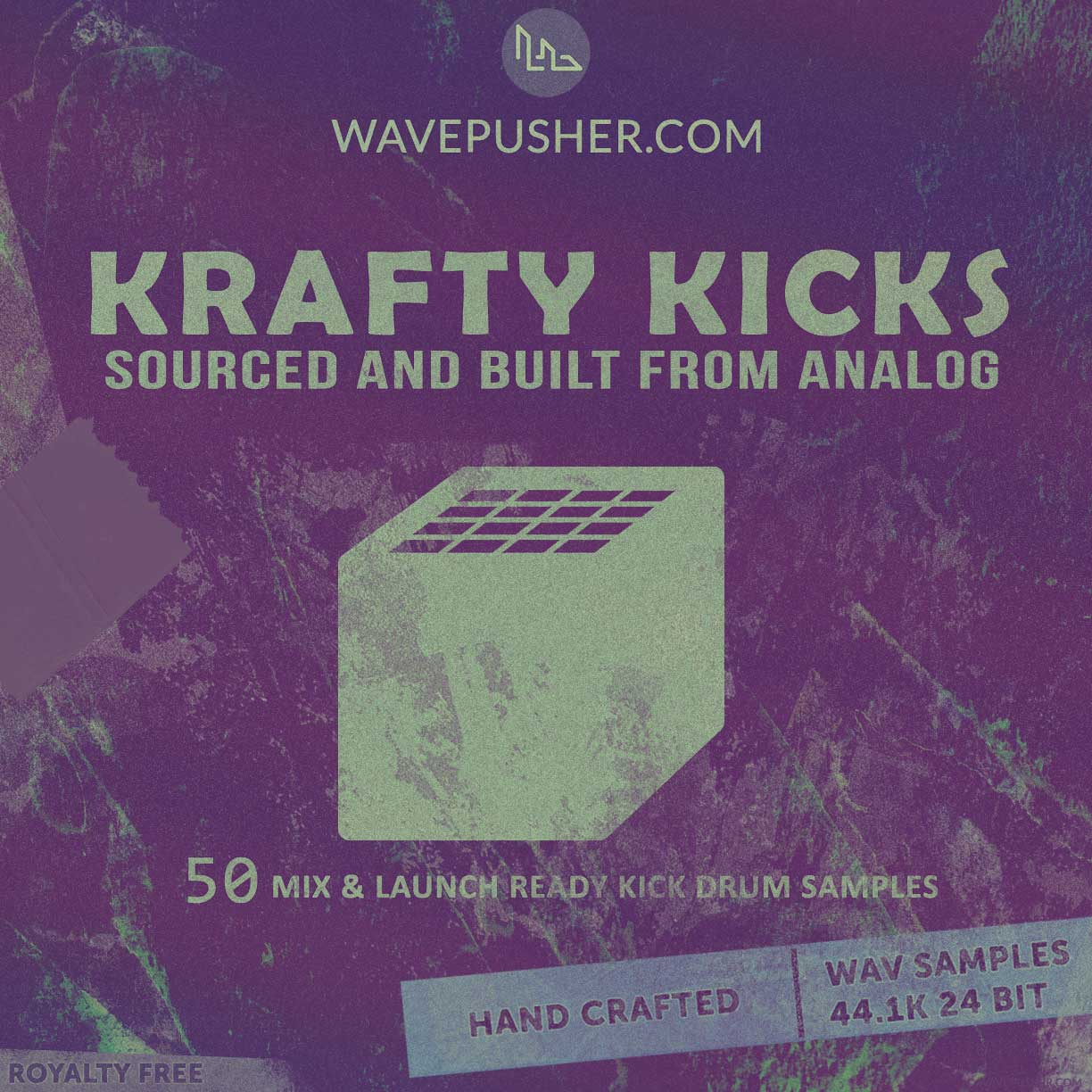 Krafty Kicks - 50 drum hits sourced from analog