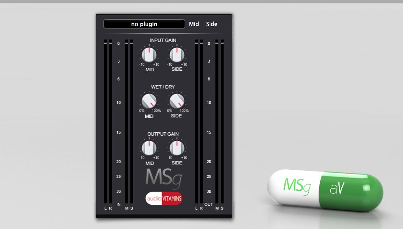 KVR: MSg by Audio Vitamins - Mid-Side Encoder Decoder VST Plugin