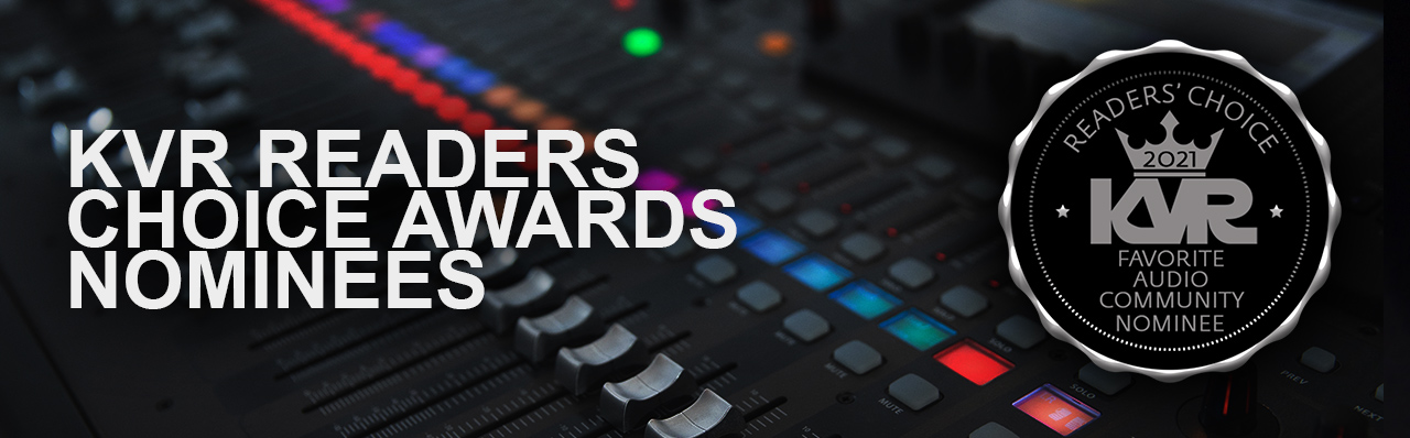 KVR Readers' Choice Awards 2021: Top 5 nominations for 'Favorite DAW for Performance'