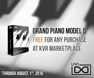 Launch Offer - Get UVI Grand Piano Model D free!