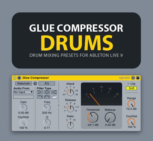 Glue Compressor: Drum Mixing Presets