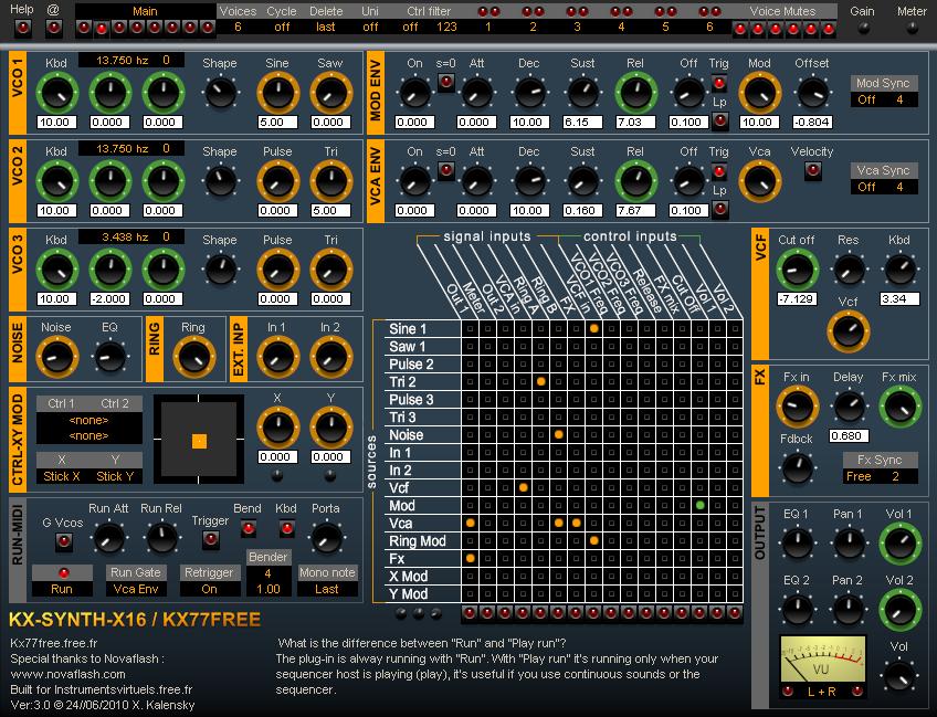 KX-Synth-X16