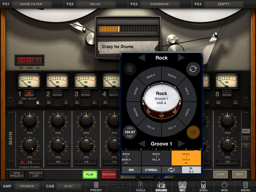 Sync Iphone To Ipad >> KVR: IK Multimedia updates AmpliTube for iPhone and iPad to v2.9 - Adds new Loop Drummer module