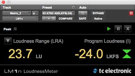 LM1n Loudness Meter