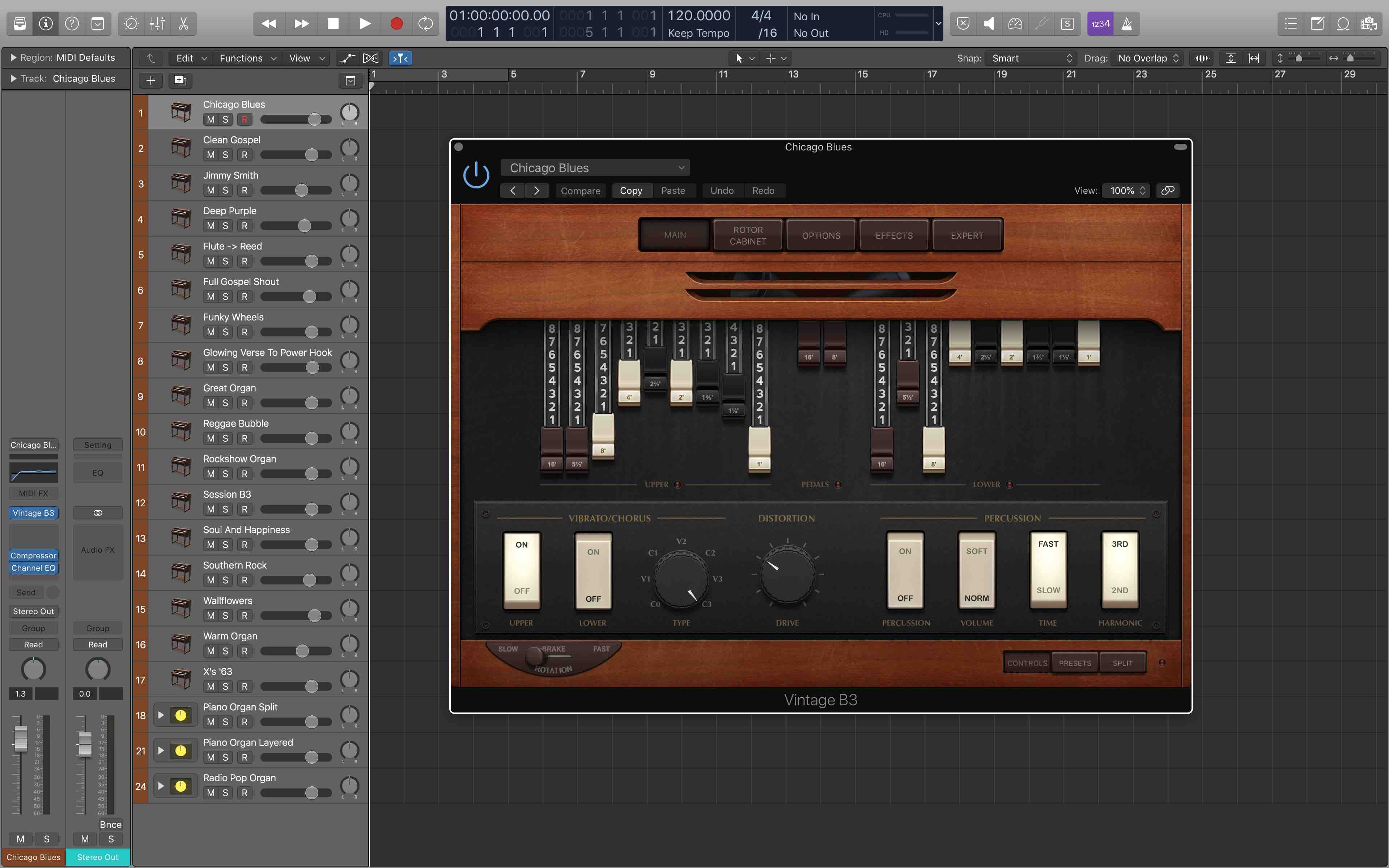KVR: Vintage Organ Pack For Apple MainStage 3 and Logic X by