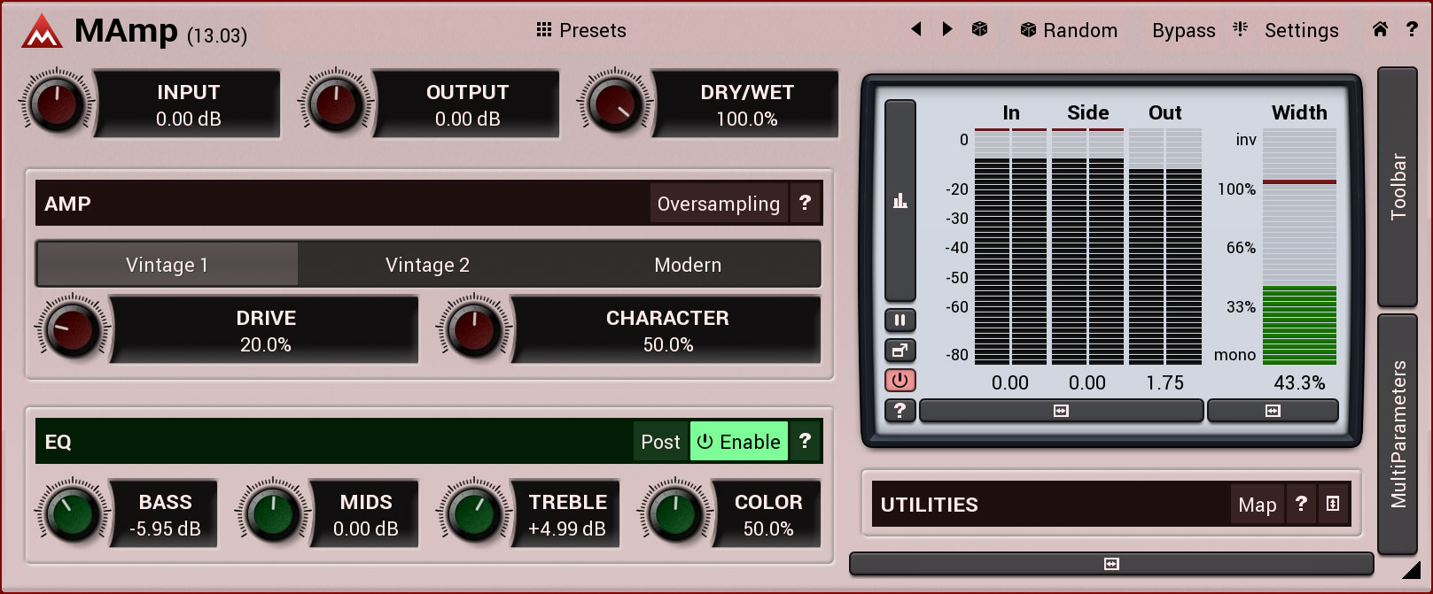 KVR: MAmp by MeldaProduction - Distortion VST Plugin, Audio Units