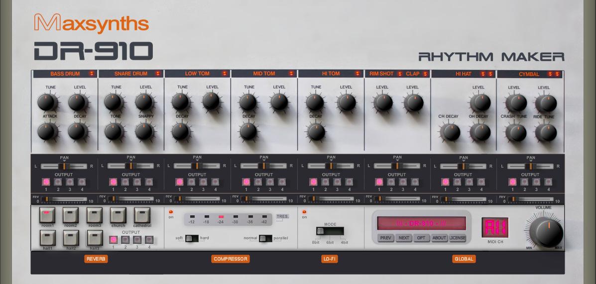 KVR: DR-910 by MaxSynths - TR-808 / TR-909 Software Emulation VST ...