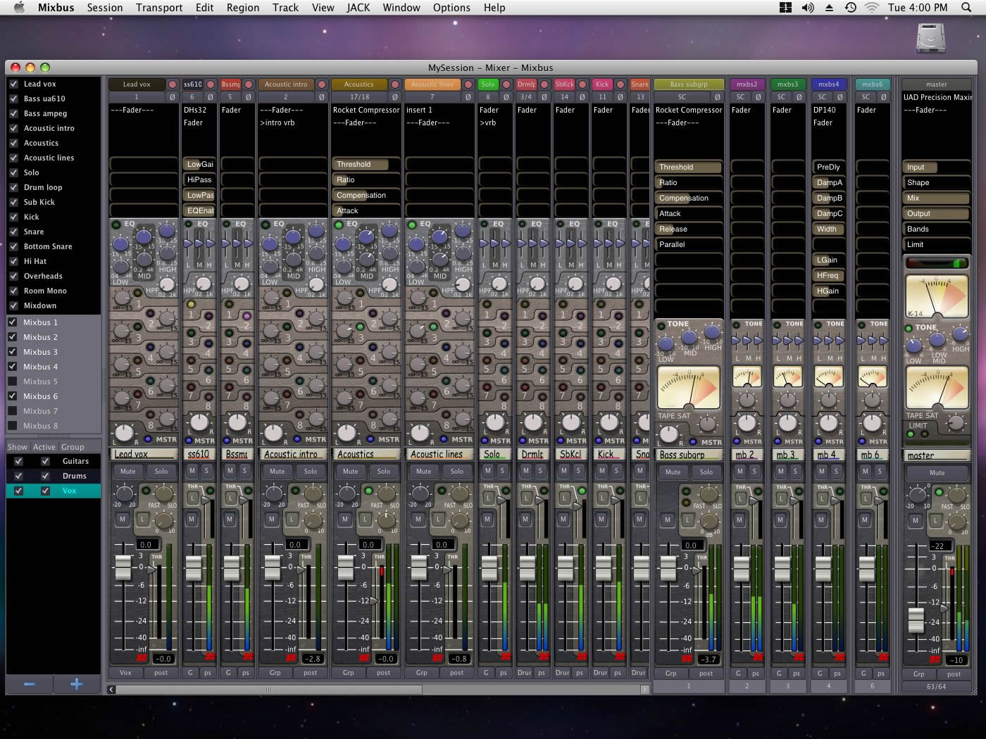 kvr mixbus by harrison sequencer multitrack ladspa plugin for windows mac os x and linux. Black Bedroom Furniture Sets. Home Design Ideas