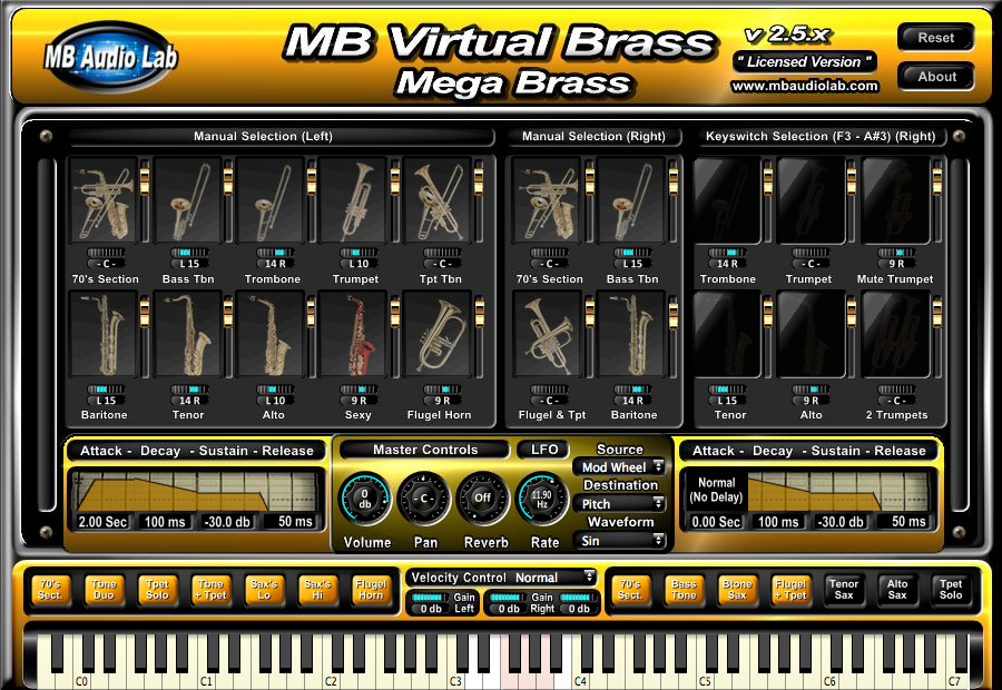 MB Virtual Brass Mega Bass