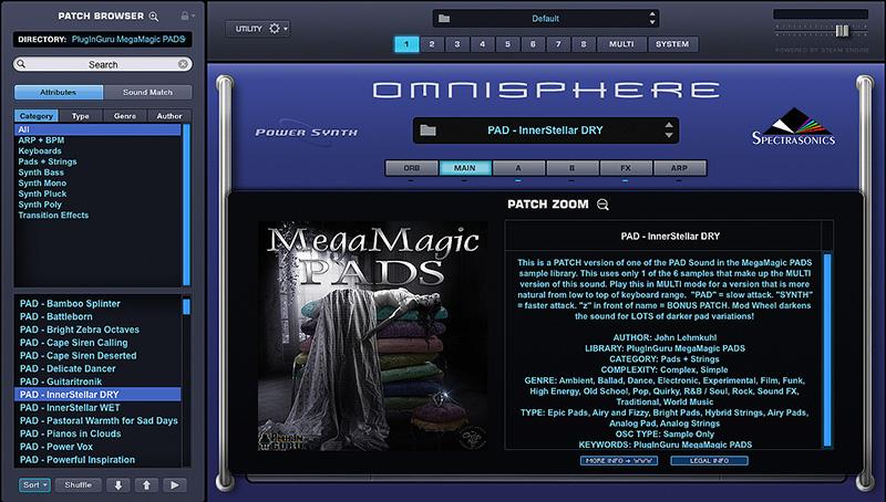 KVR: PlugInGuru releases MegaMagic PADS for Omnisphere 2