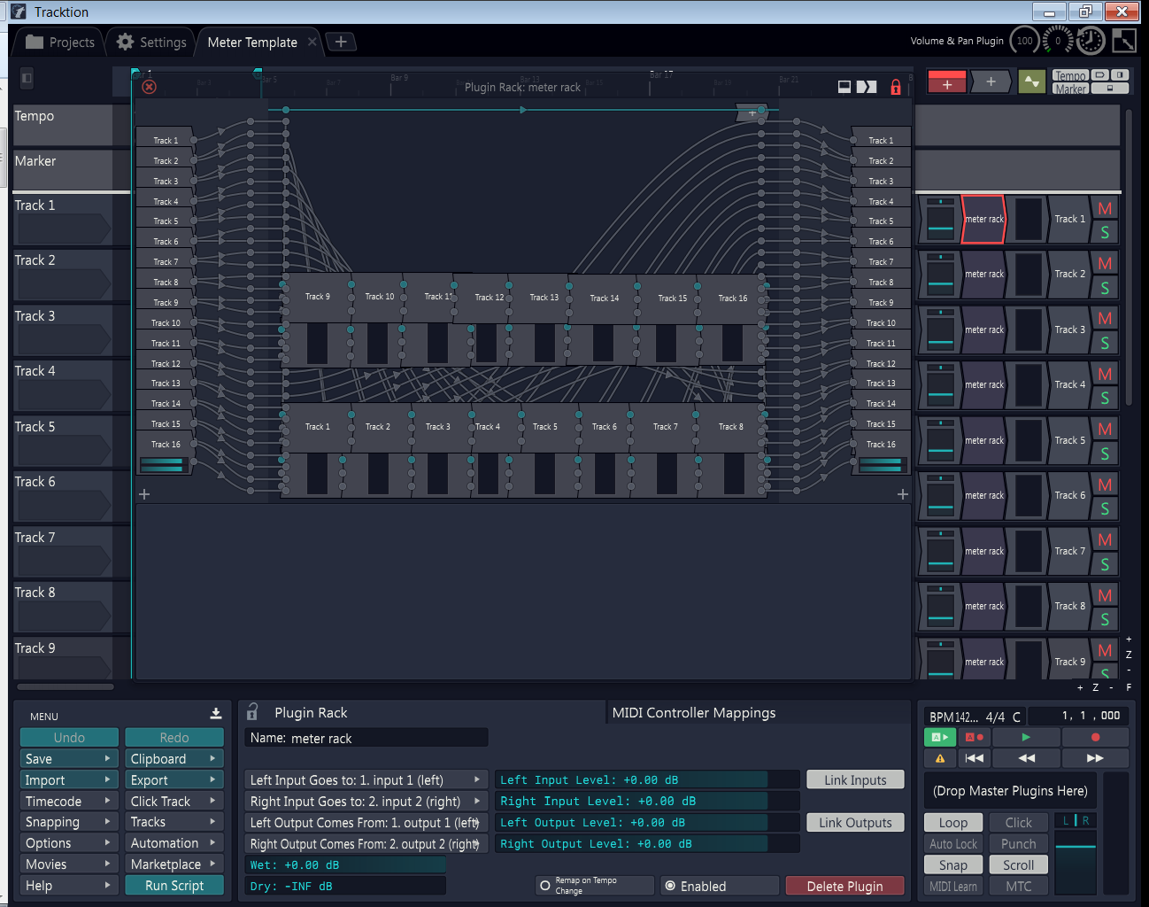 Tracktion Metering Rack & Template