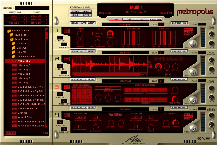 KVR: Metropolis by AMG - Hip Hop VST Plugin and Audio Units Plugin