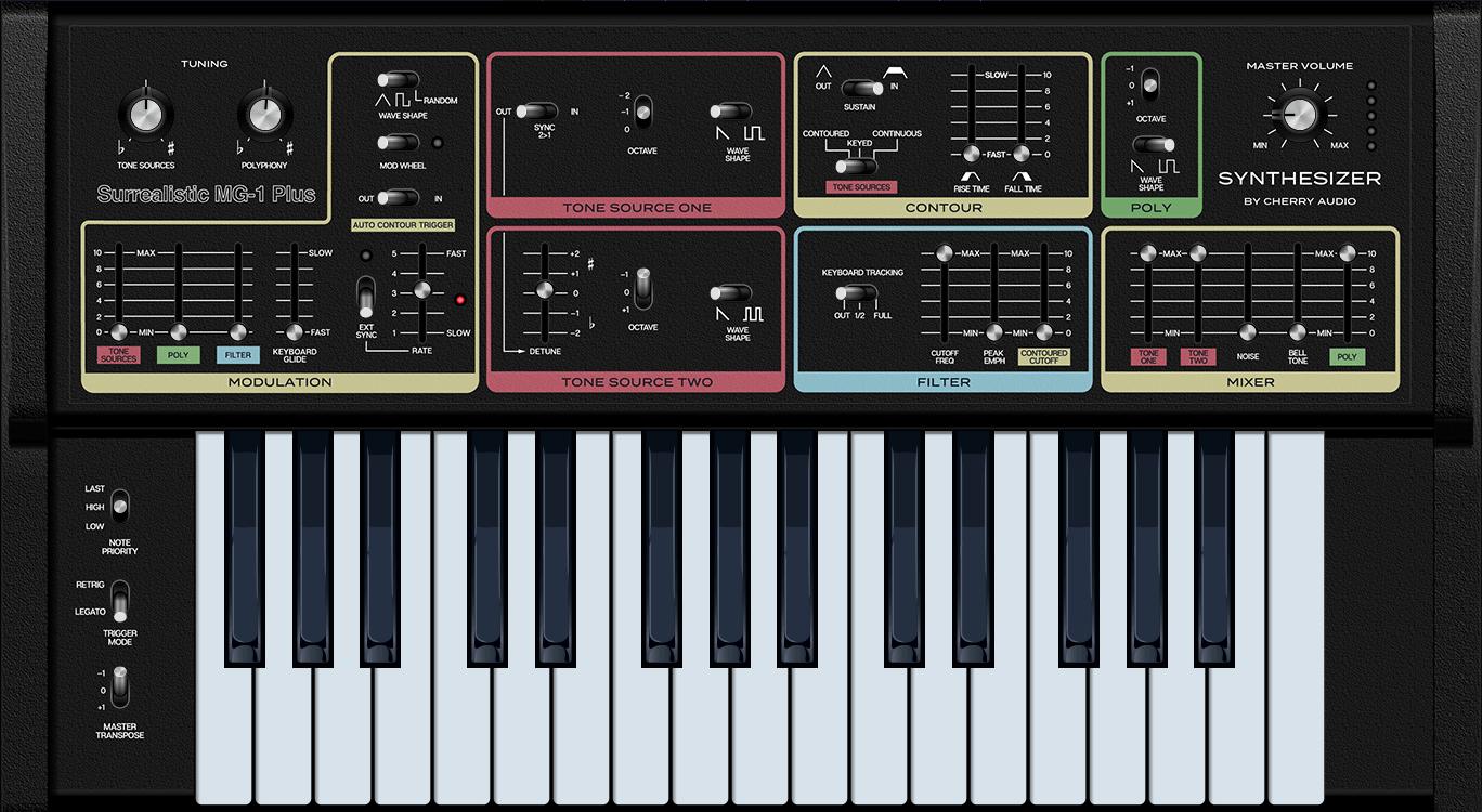 Surrealistic MG-1 Plus Synthesizer