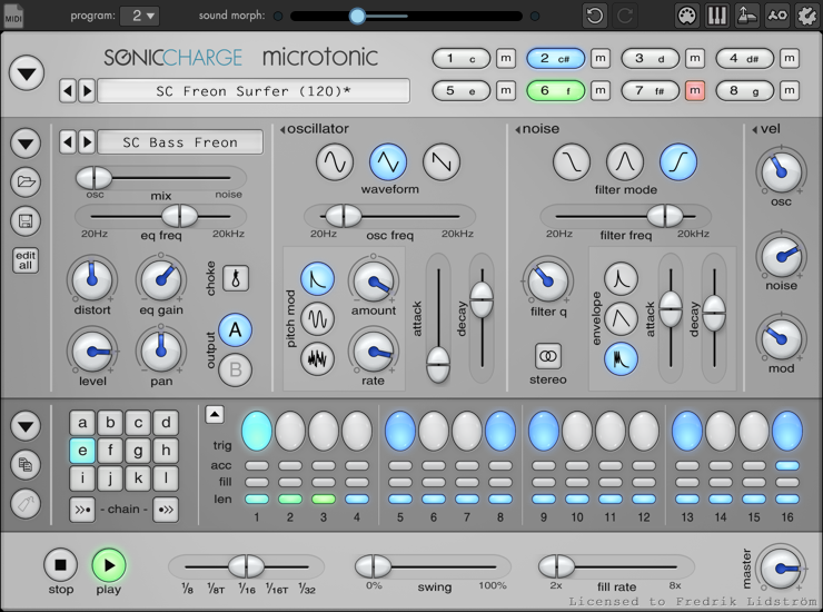 KVR: Microtonic (µTonic) by Sonic Charge - Drum Synth VST