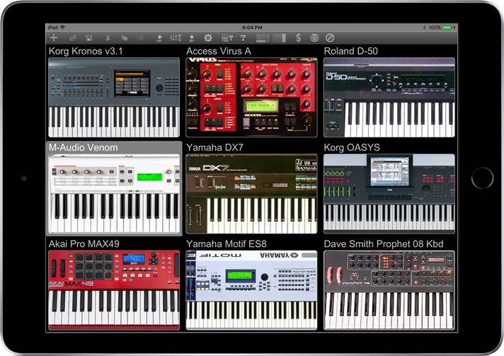 Korg Kronos Editor iPad