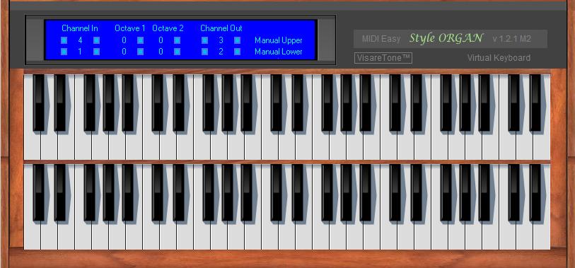KVR: MIDI Easy Style ORGAN by VisareTone - Virtual Keyboard