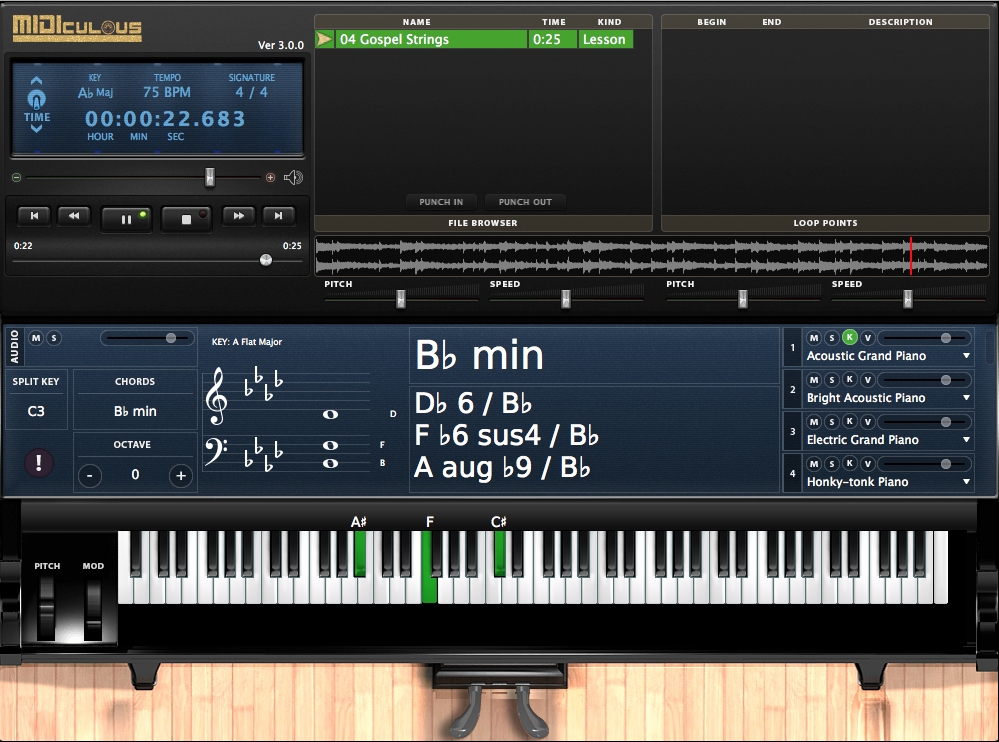 KVR: Gospel Musicians releases MIDIculous Free Player Learning