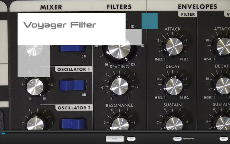 Minimoog Voyager Lesson Pack for Syntorial