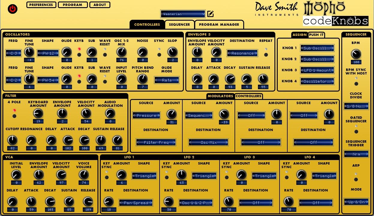 DSI Mopho Desctop Editor VST