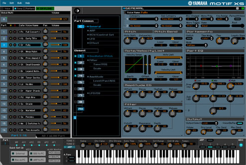 KVR: Motif XS Editor VST by Yamaha - MIDI Controller VST 3