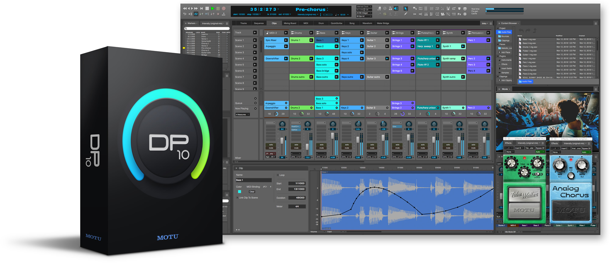 QnA VBage MOTU announces Digital Performer 10 - Clips Window, Stretch Audio, VCA Faders, VST3 plug-in support and More