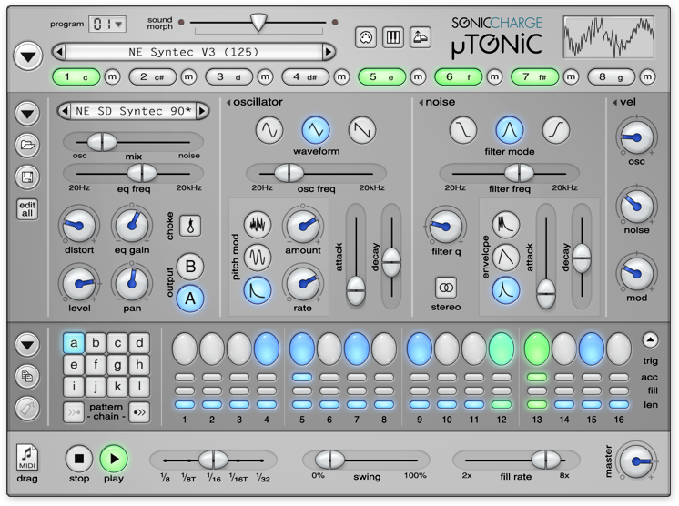 kvr microtonic tonic by sonic charge drum synth vst plugin and audio units plugin for. Black Bedroom Furniture Sets. Home Design Ideas