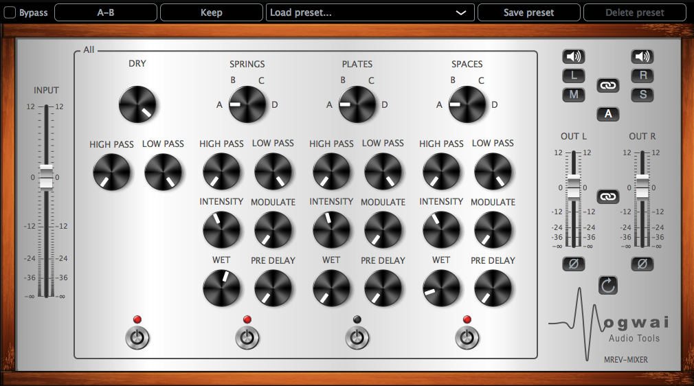 MREV-MIXER Stereo Channel View