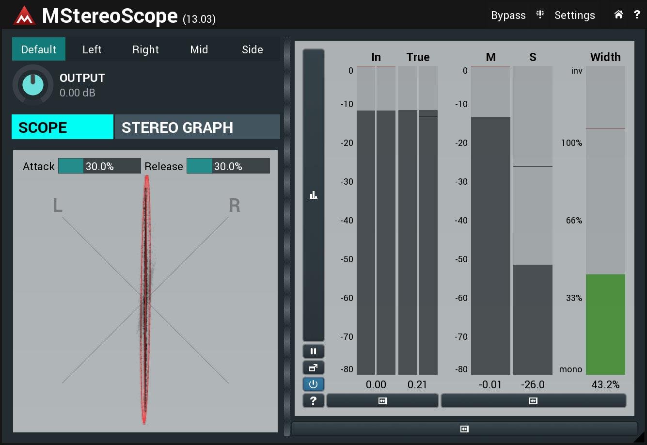 KVR: MStereoScope by MeldaProduction - Analyser / Monitor VST Plugin