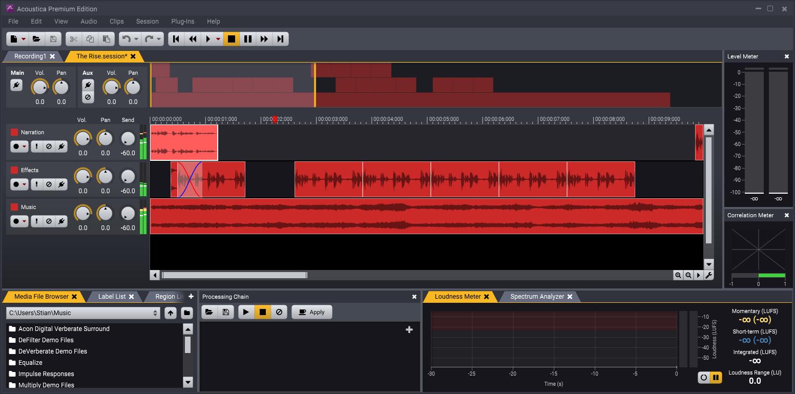 KVR: Acoustica by Acon Digital - Audio Editor