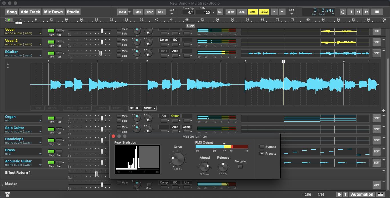 KVR: Bremmers Audio Design updates MultitrackStudio to v9 4 - Mac