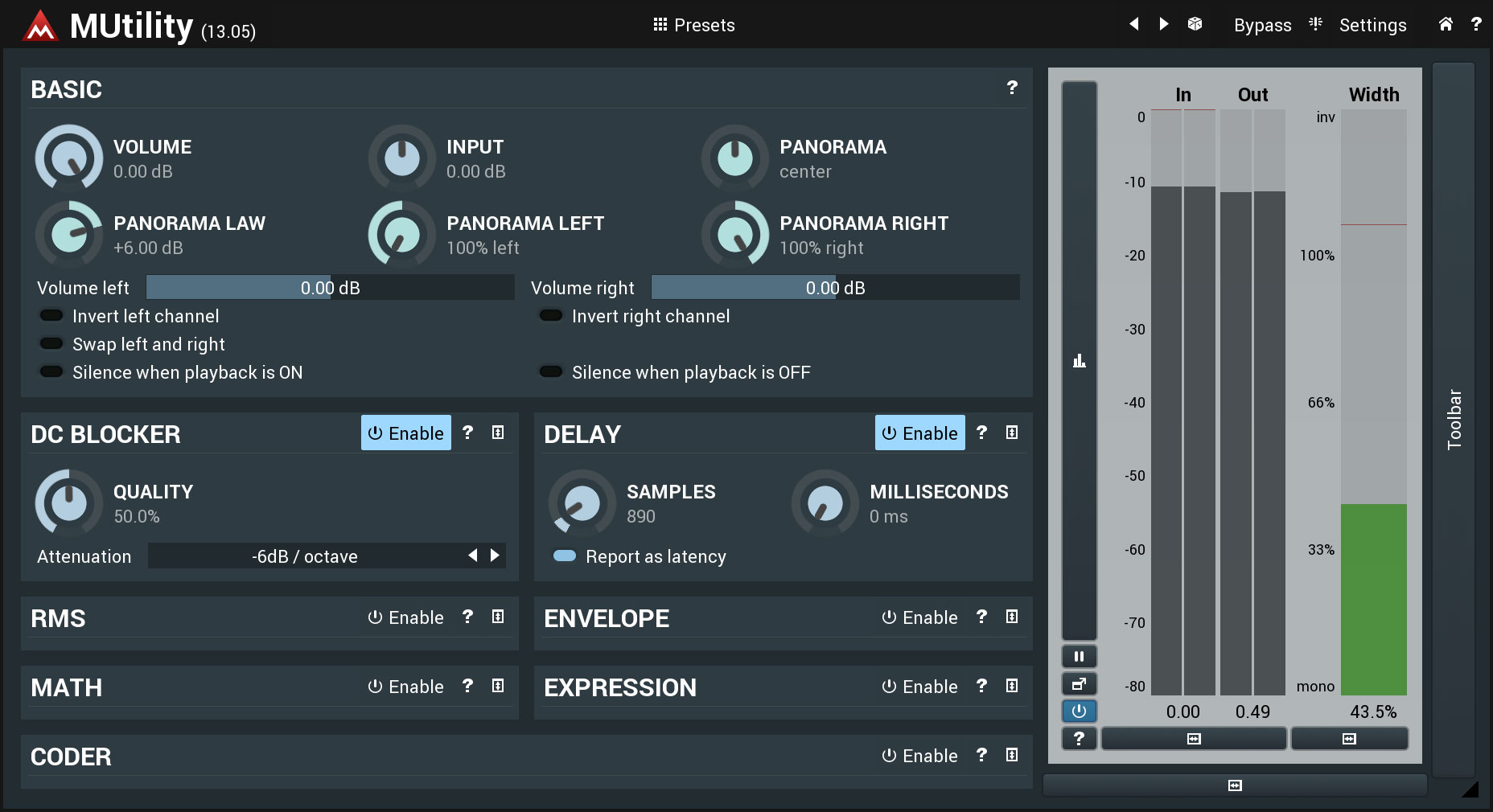 KVR: MUtility by MeldaProduction - Utility VST Plugin, Audio