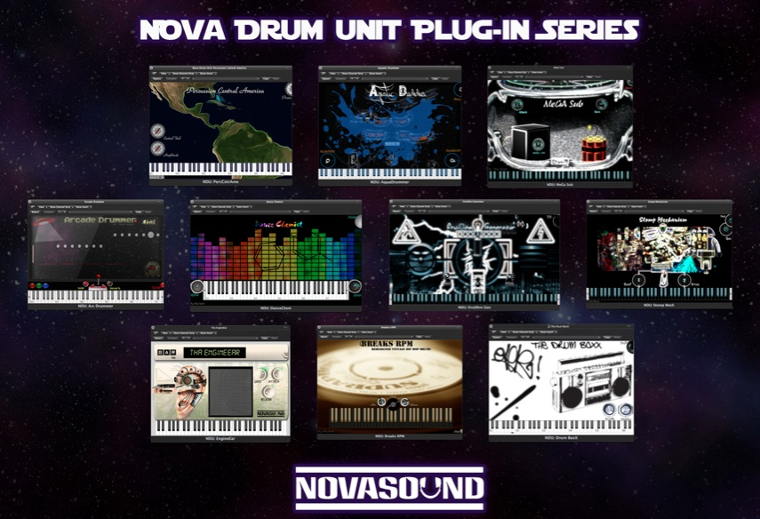 Nova Drum Unit Plugin Bundle