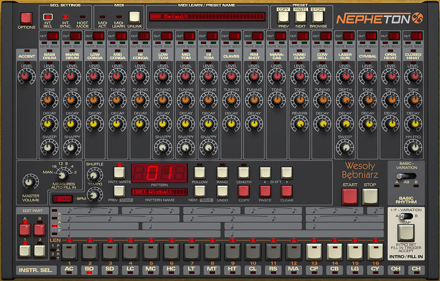 kvr nepheton by d16 group drum synth vst plugin and audio units plugin. Black Bedroom Furniture Sets. Home Design Ideas