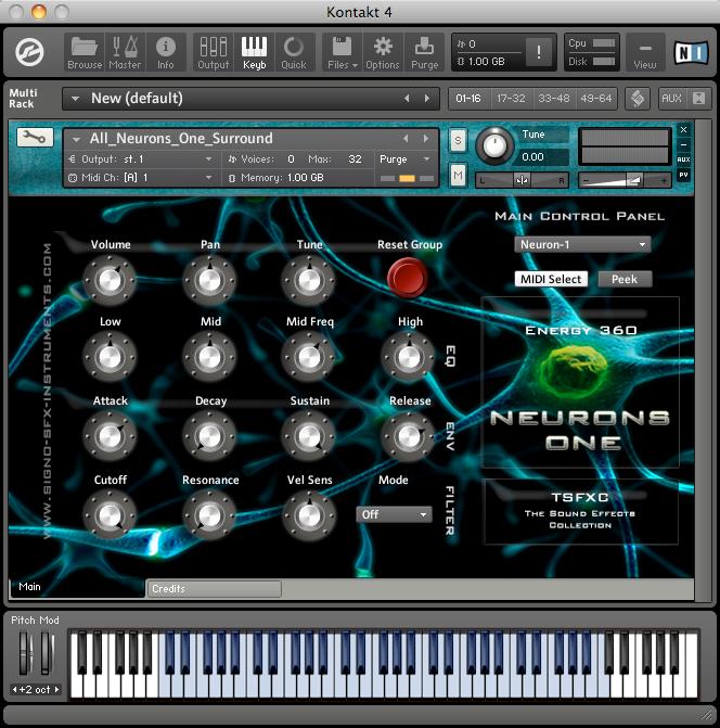 Neurons One SFX-Instruments - Kontakt & EXS24