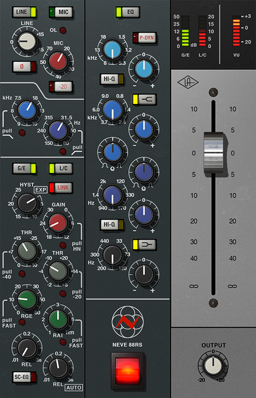 Kvr Neve 88rs Channel Strip Collection By Universal Audio